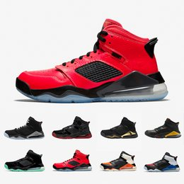 Discount fire sneakers PSG Bred Fire Red Top MARS Basketball Shoes Shattered Backboard Black Metallic Grey Green Glow DMP Citrus Mens Sports Sn