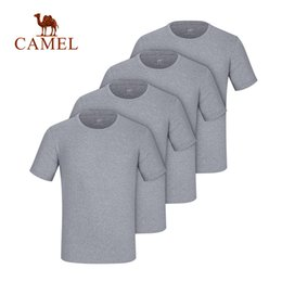 $enCountryForm.capitalKeyWord Australia - CAMEL 100% Cotton T-Shirts Breathable Men Outdoor Summer Quick Dry High Elastic 2019 O-Neck Large Plus Size