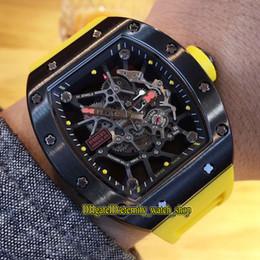 $enCountryForm.capitalKeyWord Australia - 5 Color Best Quality RM 035 RAFAEL NADAL Skeleton Dial Japan Miyota Automatic RM035 Mens Watch Steel Case Yellow Rubber Strap Sport Watches