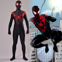 $enCountryForm.capitalKeyWord UK - Venom Spiderman Costumes Custom 3D Printed Symbiote Spider-Man Lycra Cosplay Costume Zentai Spidey Suit