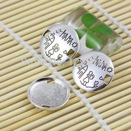 Tibetan Connectors Australia - clasp 20pcs lot Fashion Spanish Message Connectors Pendant Tibetan silver Bracelet Clasps 22mm (K00547) clasp beads