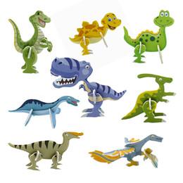$enCountryForm.capitalKeyWord NZ - 100 pcs lot Useful 3D Dinosaur Paper Model Puzzle Assembled Brain Teaser Games Educational Toys for Children Jigsaw Kids Toys