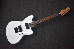 customize guitar 2019 - Factory Custom White Electric Guitar with Reverse Headstock,Black Hardware,Rosewood Fretboard,High Quality,Can be Custom