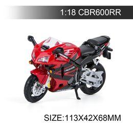 $enCountryForm.capitalKeyWord UK - 1:18 Motorcycle Models CBR600RR Model bike Alloy Motorcycle Model Motor Bike Miniature Race Toy For Gift Collection
