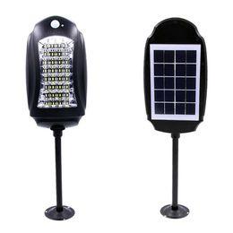 Водонепроницаемый 32led Солнечные уличные фонари Открытый садовый фонарь + датчики движения Солнечные настенные лампы безопасности дорожного аварийного освещения с дистанционным на Распродаже