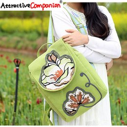 backpack specials NZ - Attractive Women Special Embroidery Bagpack National Cotton Thread Chain Fashion Unique Ethnic Retro Girl Fresh Style Bagpack