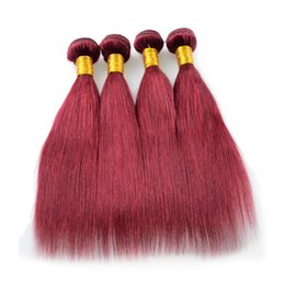 $enCountryForm.capitalKeyWord Canada - Mongolian Virgin Hair Straight 100% Remy human hair extension 99j cheap brazilian 4 pcs lot free shipping virgin Burgundy Hair Weaving