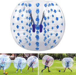 inflatable hamster Australia - Transparent 1.5m Inflatable Bumper Football PVC Ball Blue Bumper Ball For Adults And Teens Kids Outdoor Play Human Hamster Ball Clear