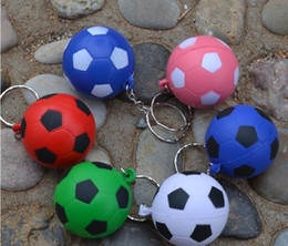 soccer rings Australia - 500pcs 5Colors Soccer Patten Soft Keychain Bag Parts for kids key ring pendant creative toy