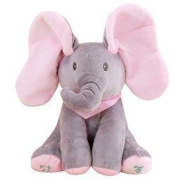 Gato escondido Cubiertas de elefantes Ojos Los juguetes de peluche pueden cantar Elefante que cuenta historias Niños con música Muñecas eléctricas en venta