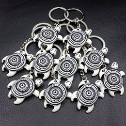 cool key rings Canada - Cool 12PCS Boy Men's Tribal turtles keyrings Keychains Resin Carved Car Key Rings for Children's gift YKR27