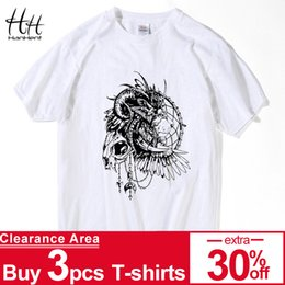 $enCountryForm.capitalKeyWord Australia - HanHent King Men Hip Hop Skull Shirt Men Short Sleeve T-shirt Swag Rock Tshirt Homme Clothing White Tee shirts Black