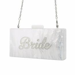 $enCountryForm.capitalKeyWord Australia - vening handbag Pearl White with Silver Glitter Name Bride Acrylic Box Clutches Bags Ladies Evening Handbags Fashion Handmade Claps Beach ...