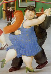 Oil paint dance girls online shopping - Fernando Botero dance girl Home Decor Handpainted HD Print Oil Painting On Canvas Wall Art Canvas Pictures