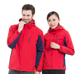 wholesale ski suits Australia - Men Women 2pcs suit Windbreaker Breathable Softshell Jacket Outdoor Sports Coats Ski Hiking Windproof Winter Outwear Soft Shell jacket DHL