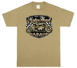 Men Head Gear Australia - Gear Head Garage Hot Rod Graphic T-shirt Tee Funny free shipping Unisex Casual