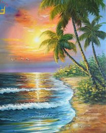 Sea Pole Australia - 40x50cm New thick cloth decorations painting, calligraphy modular pictures Coloring by numbers sea, sunrise acrylic Coloring by numbers draw