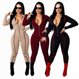 e5b28ec05639 2019 Sexy Fashion Slim Tight Leg Women s Jumpsuit Bodysuit Rompers Body  Mujer Jumpsuits Monos Largos Pantalon
