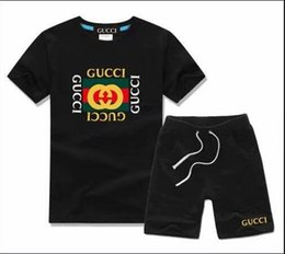 boys cotton beach pants Australia - 2019 new children's T-shirt shorts pants boys cotton shirt children's sportswear sports suit 2   set of short-sleeved beach T-shirt