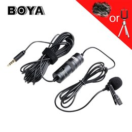 $enCountryForm.capitalKeyWord Australia - BOYA BY-M1 Professional Microphone 6M Lavalier Stereo Audio Recorder Interview Clip Mic For Nikon Canon DSLR iPhone 7 LG phone