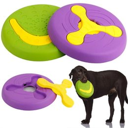 teeth cleaning water Australia - Pet Training Dog Toy Vocal Pet Molar Rubber Toy Bite Pet Two-in-one Flying Disc Floating Water Tpr Toys For Clean Tooth