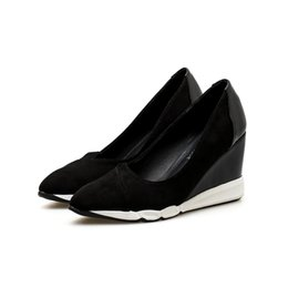 $enCountryForm.capitalKeyWord UK - 2018 autumn new shallow mouth casual wedge heel shoes pointed thick platform shoes casual walking shoes soft and comfortable