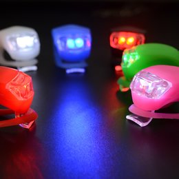$enCountryForm.capitalKeyWord Australia - Cheap Silicone Bicycle Head Light LED Bike Light Strobe Bike Tail Rear Wheel Spoke Lights Flashlight Mountain Bicycle Accessories Lamp