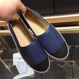 Großhandel Espadrilles Echtes Leder Schnur Plattform Espadrille Frauen Wohnungen Müßiggänger Wedges Schuhe Damenmode Casual Sandalen Pumps