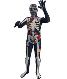 $enCountryForm.capitalKeyWord Australia - kids Adult Full Body Suit Spandex Lycra Zentai Bodysuit Halloween cosplay costume 3D digital print Ghost Series Anime Stage