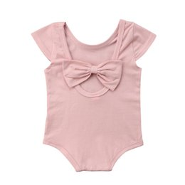 $enCountryForm.capitalKeyWord UK - Back Bowknot Newborn Baby Girls Romper Sunsuit Jumpsuit Outfits