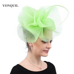 $enCountryForm.capitalKeyWord NZ - Light green fashion headwear party tea hats women ladies elegant fascinators hair clips church cocktail event hair accessories free shipping