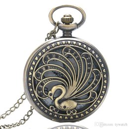$enCountryForm.capitalKeyWord Canada - Cute Hollow Elegant Peacock Surrounded by Love Vintage 12-Hour Dial Pocket Watch with Slim Necklace for Men Women Gift Free Shipping