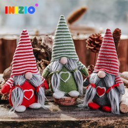 wholesale doll houses NZ - 2019 New Year Cute Christmas Plush Dolls Faceless Doll Navidad Decoration Ornaments Pendant Party Houses Pendant Xmas Festival