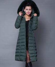 $enCountryForm.capitalKeyWord Australia - STOCK Fashion Winter Long Women Coats Parkas Thick Jackets Full Sleeve Solid Parkas Outwear Fashion Lady Clothing Green XXL