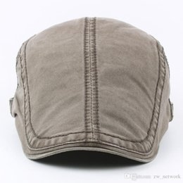 37365039e09 Old man flat cap online shopping - 2018 winter Men s Cotton Flat Snap Hats  old