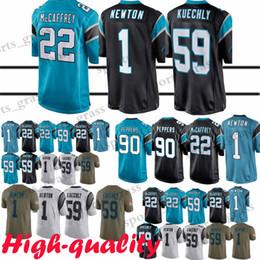 141c03ba9 22 Christian McCaffrey Carolina Panther jerseys 1 Cam Newton 59 Luke Kuechly  58 Thomas Davis jersey High-quality promotion