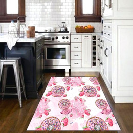 $enCountryForm.capitalKeyWord Australia - Else Pink Candy Girls Watercolor Strawberry 3d PatternPrint Non Slip Microfiber Kitchen Modern Decorative Washable Area Rug Mat