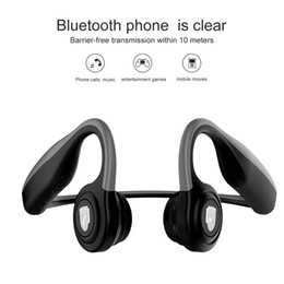 $enCountryForm.capitalKeyWord Australia - amazon top sell wireless Bone Conduction Headsets sport earphones Air Wireless Waterproof BT Earphones Bone Conduction Headphones with Mic
