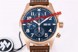 $enCountryForm.capitalKeyWord Australia - ZF New Luxury 3777 Watch Swiss 7750 Automatic Chronograph Sapphire Crystal Rose Gold Case Blue Dial calfskin Strap Solid Case Back Men Watch