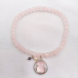 Rose quaRtz 925 steRling online shopping - Authentic Sterling Silver bracelets Silver And Rhodonite Camille Bracelet With Rose Quartz Iolite And Pearl Fits European bear bear Jew