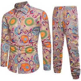 $enCountryForm.capitalKeyWord Australia - Mature Man Vacation Suits Europe 5XL Slim Shirt and Pants Set Autumn Arrival Male Linen Clothing Club Boys New Fashion Tracksuit