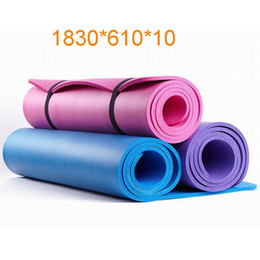 yoga mats 2019 - 1830*610mm Enviormental TUV Certificated NBR Yoga Foam Mat Cushion for Fitness Home Exercises Gym Pilates Physiotherapy