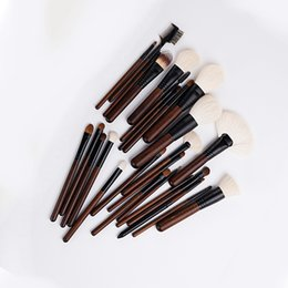 $enCountryForm.capitalKeyWord NZ - Portable makeup brush wooden handle 26 foundation blush eyeshadow animal hair multi-function beauty tools full set