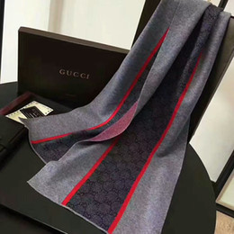Brown ring Box online shopping - Fashion Luxury Scarf men Scarves winter fashion Luxury brand design Scarf men Knitted cashmere Scarf black brown without box t8y