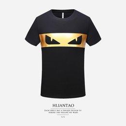 296a28ca Bronze sleeve online shopping - 2019 Summer T shirt Slim Bronze Monster  Eyes Cotton Trend Short