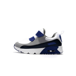 buy online 290e5 acca2 2018 Hot Sale Kids Running Shoes Grey White Yellow 90 Infant   Children  Sports 910s Toddler Trainers Boy   Girl Sneakers Size Eur28-35NTR