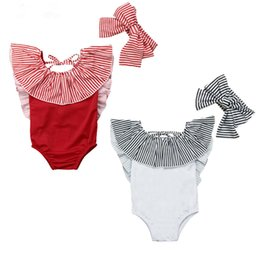 $enCountryForm.capitalKeyWord Australia - Fashion Baby Swimwear Newborn Swimsuit Bathing Suit Stripe Bodysuit One Piece Swimsuit Monokini Kids Beachwear Children Swimwear