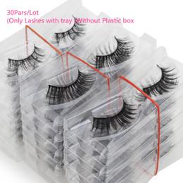 Mink False Natural Eyelashes Australia - 30 Pairs Mink Eyelashes With Tray No Box Handmade Natural False Eyelashes Full Strip Lashes Reusable Long lashes Cruetly Free