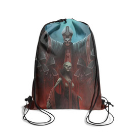 Dye Packs Australia - Drawstring Sports Backpack Ghost Bc Ghost band poster popular convenient school Pull String Backpack