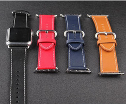 Leather Connectors Australia - For Apple iWatch 4 leather watch with a loop watch with an Apple strap connector